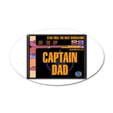Captain Dad 22x14 Oval Wall Peel