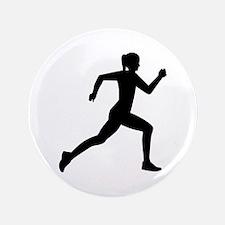 Running woman girl Button