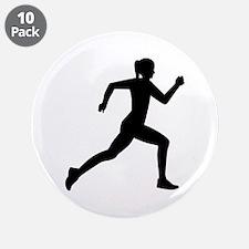 """Running woman girl 3.5"""" Button (10 pack)"""
