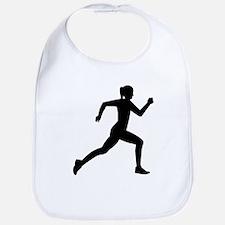 Running woman girl Bib