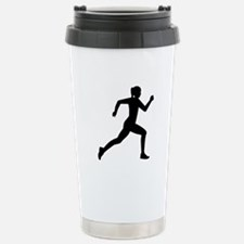 Running woman girl Stainless Steel Travel Mug