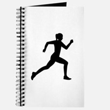 Running woman girl Journal