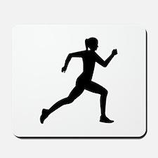 Running woman girl Mousepad