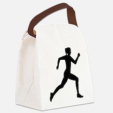 Running woman girl Canvas Lunch Bag