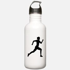 Running woman girl Water Bottle