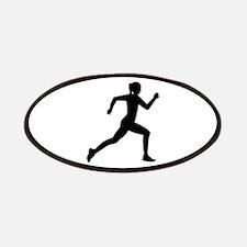 Running woman girl Patch