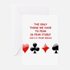 Cute Playing bridge Greeting Cards (Pk of 10)
