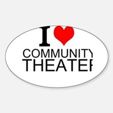 I Love Community Theater Decal