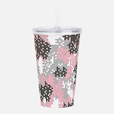 Pink Pixel Camouflage Acrylic Double-wall Tumbler