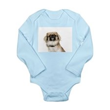 Cute Pekingese puppies Long Sleeve Infant Bodysuit