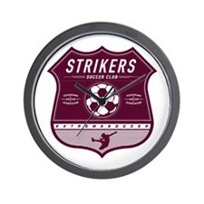 Strikers Shield Wall Clock