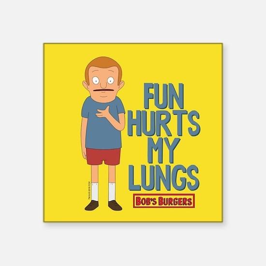 """Bob's Burgers Rudy Square Sticker 3"""" x 3"""""""