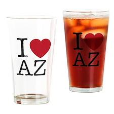 I Love AZ Arizona Drinking Glass