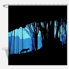 Fox in Woodlands Shower Curtain
