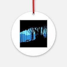 Fox in Woodlands Round Ornament