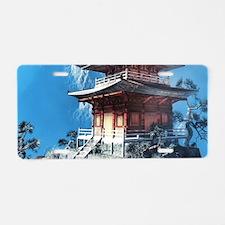 Zen Temple Aluminum License Plate