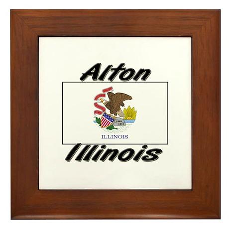 Alton Illinois Framed Tile