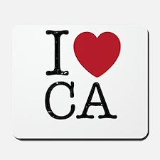 I Love CA California Mousepad