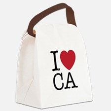 I Love CA California Canvas Lunch Bag