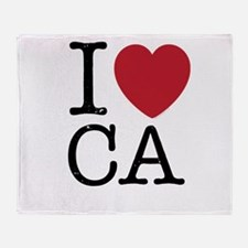 I Love CA California Throw Blanket