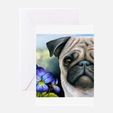 Dog 133 Pug Greeting Cards