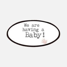 We are having a Baby! or Your Text Here Patch
