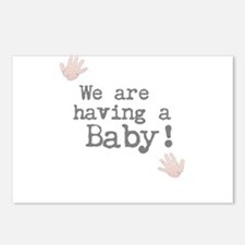 We are having a Baby! or Your Text Here Postcards