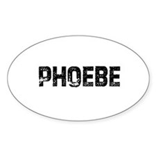 Phoebe Oval Decal