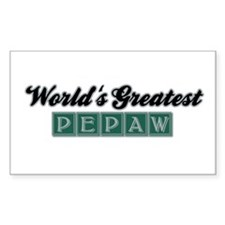 World's Greatest Pepaw (1) Rectangle Decal