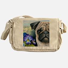 Dog 133 Pug Messenger Bag