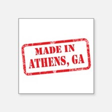 "Cute City of athens Square Sticker 3"" x 3"""
