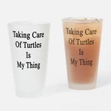 Cute Turtle lovers Drinking Glass
