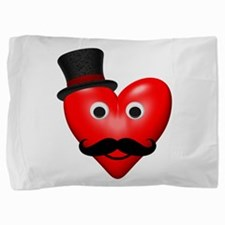 Moustache valentines Pillow Sham