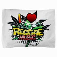 I Heart Reggae Music Pillow Sham