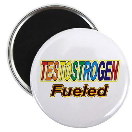 """Testostrogen Fueled 2.25"""" Magnet (10 pack)"""