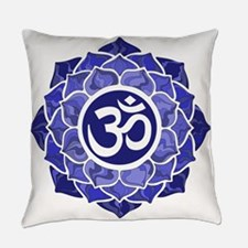 Lotus-OM-BLUE Everyday Pillow