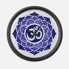 Lotus-OM-BLUE Large Wall Clock