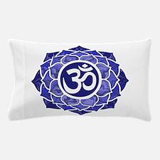 Lotus-OM-BLUE Pillow Case