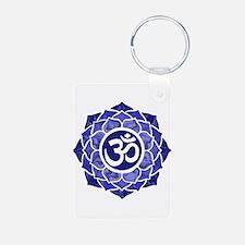 Lotus-OM-BLUE Keychains