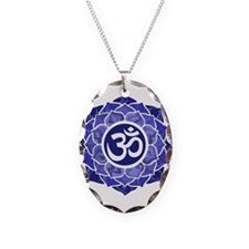 Lotus-OM-BLUE Necklace