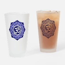 Lotus-OM-BLUE Drinking Glass