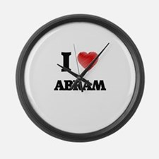 I love Abram Large Wall Clock