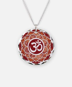 Lotus-OM-Red Necklace