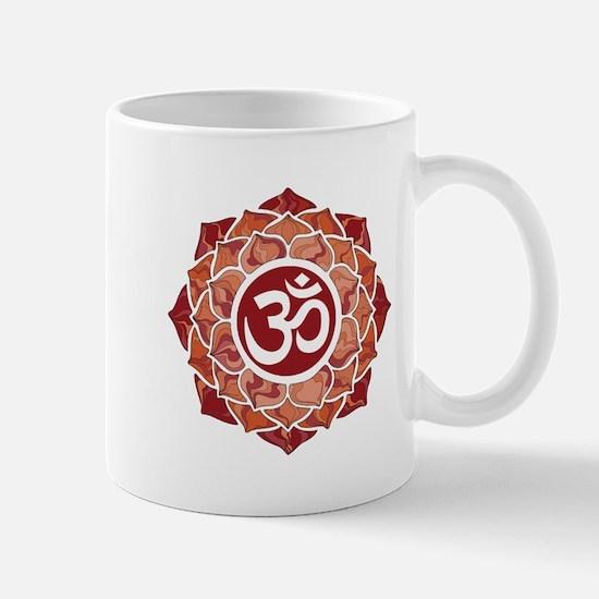 Lotus-OM-Red Mugs