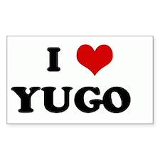I Love YUGO Rectangle Decal
