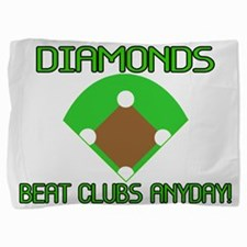 Diamonds Beat Clubs Pillow Sham