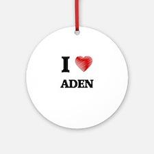 I love Aden Round Ornament