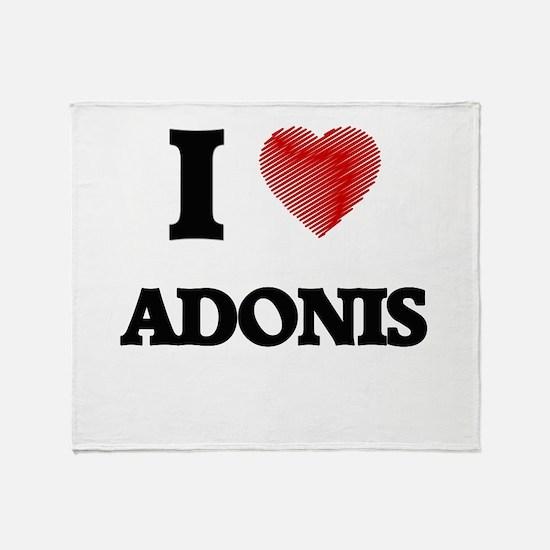 I love Adonis Throw Blanket