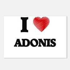 I love Adonis Postcards (Package of 8)