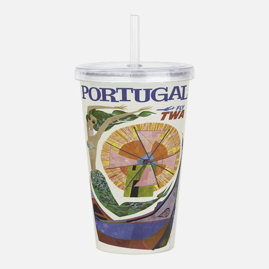 Vintage poster - Portu Acrylic Double-wall Tumbler